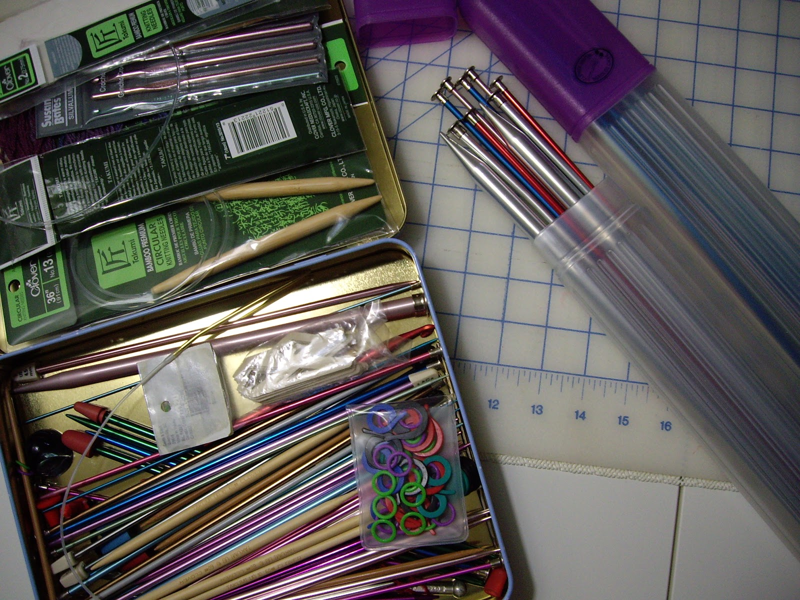 Knitting Unit Project : Sew i do organized sewing items