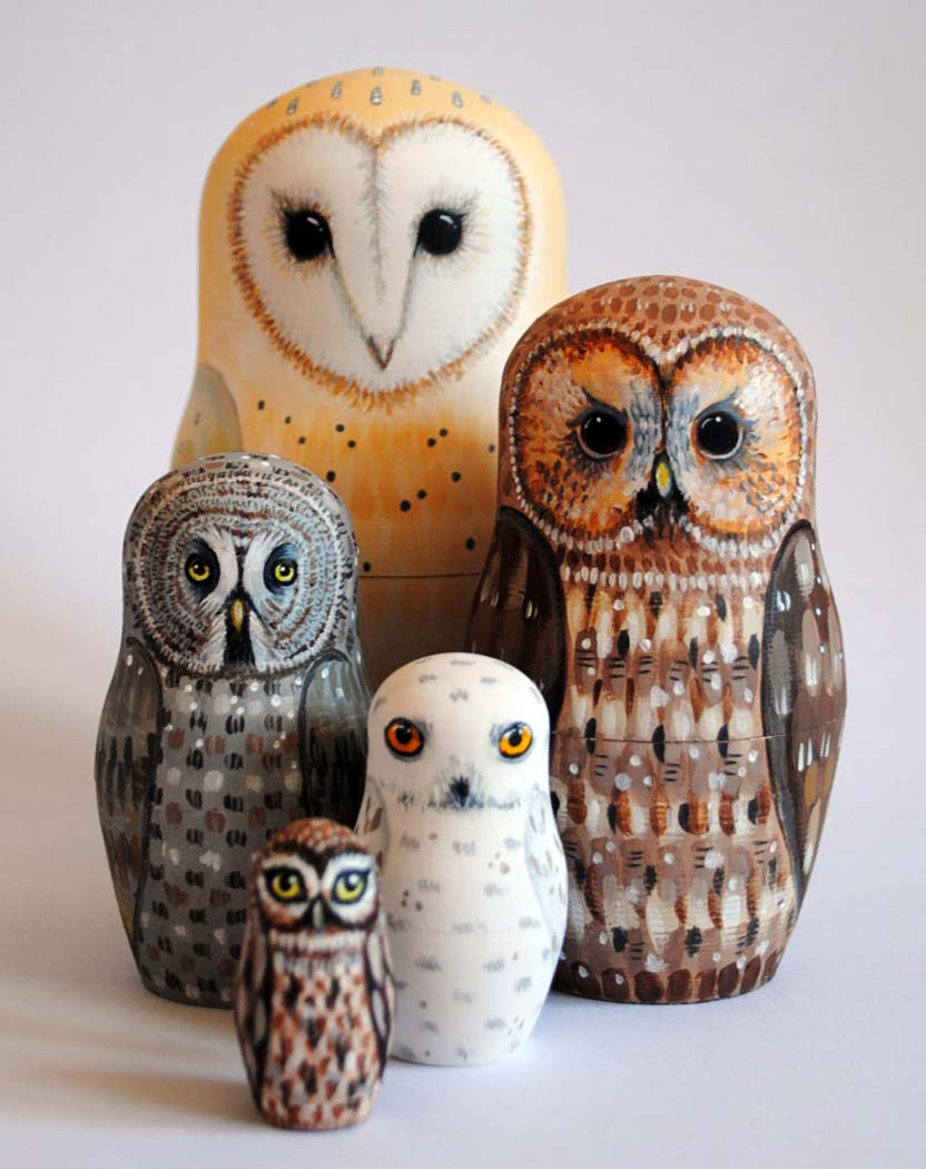 Russian Nesting Dolls Owls Owl Nesting Dolls by Alice