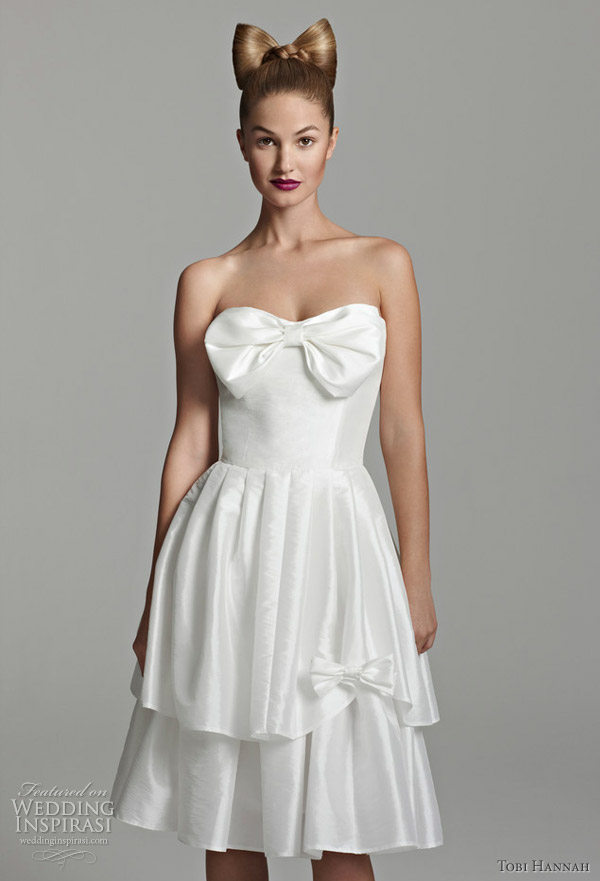 Tobi hannah wedding dresses short for Short wedding dresses 2012