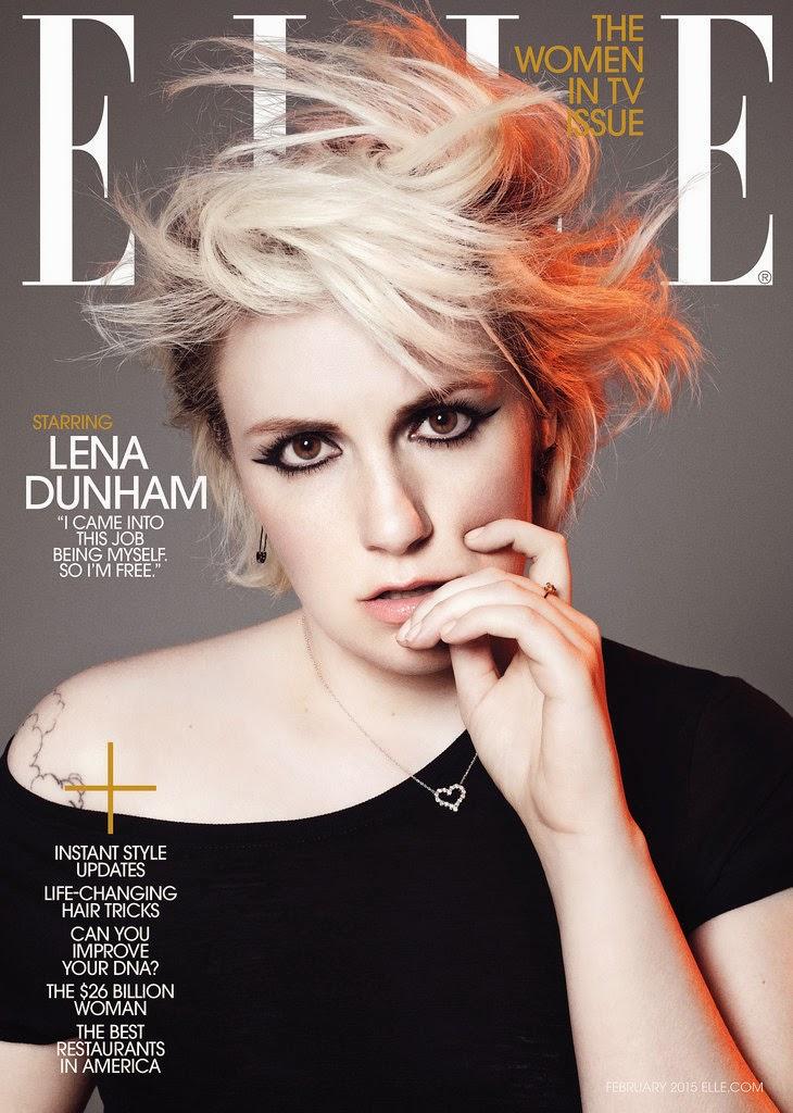 Lena Dunham Shows Off Curves in Elle Magazine