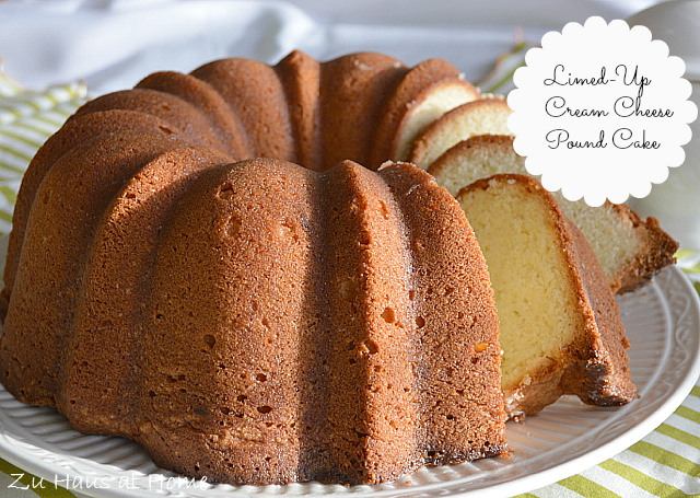 This Limed Up Cream Cheese Pound Cake recipe by Zu Haus at Home. Moni ...
