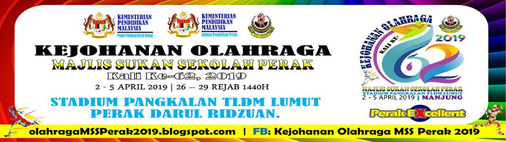 Kejohanan Olahraga MSS Perak Kali Ke-62, 2019