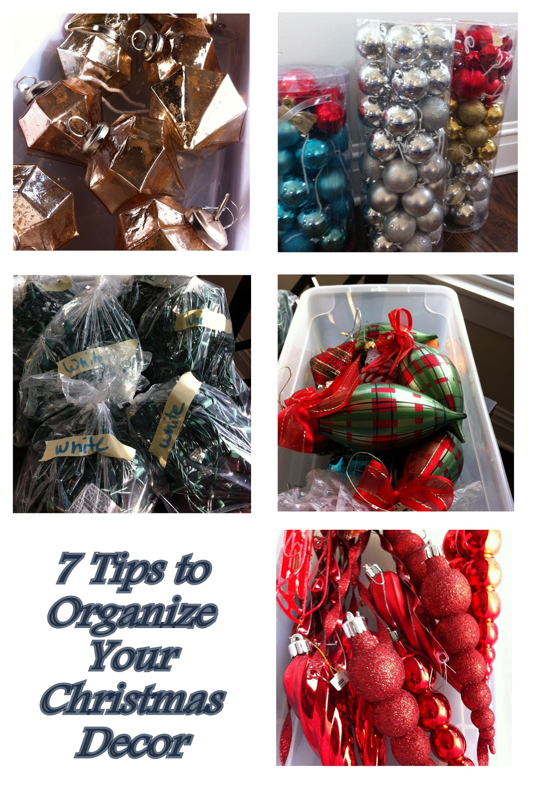 a few simple tips for organizing christmas decorations