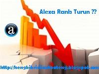 faktor penyebab alexa rank blog turun
