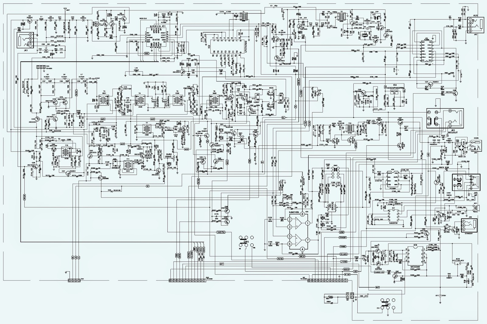 Tecsun380 together with 27mhz Transmitter Receiver Radio also Philco 42 390 Wiring Diagram besides Sangean Ats 909x Schematic together with Astron 12   Power Supply Schematic. on sangean radio schematics