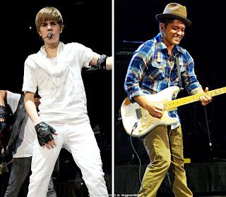 Bruno Mars And Justin Bieber Justin Bieber dan Bruno Mars