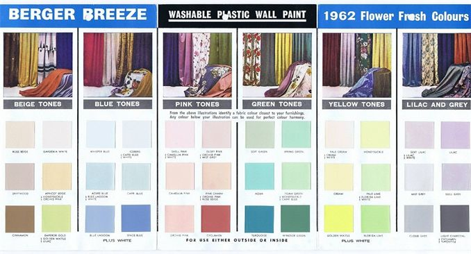 Mad For Mid Century Berger Breeze Mid Century Paint Colors