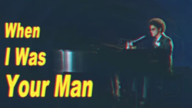 When i was your man single cover