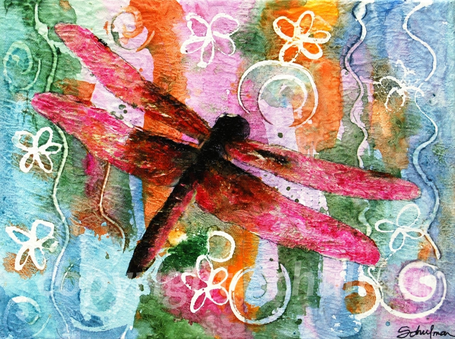 Art Blog for Creative Living: A Symphony of Summer Bug Paintings