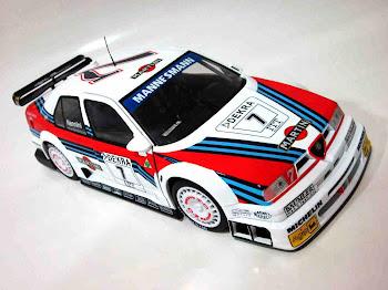 """Alfa Romeo 155 V6 TI """"Nannini"""" '93 Minichamps - UT Models"""