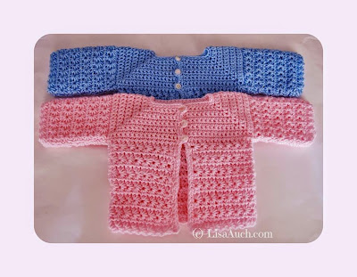 Free Crochet Pattern Baby Cardigan A Star is Born