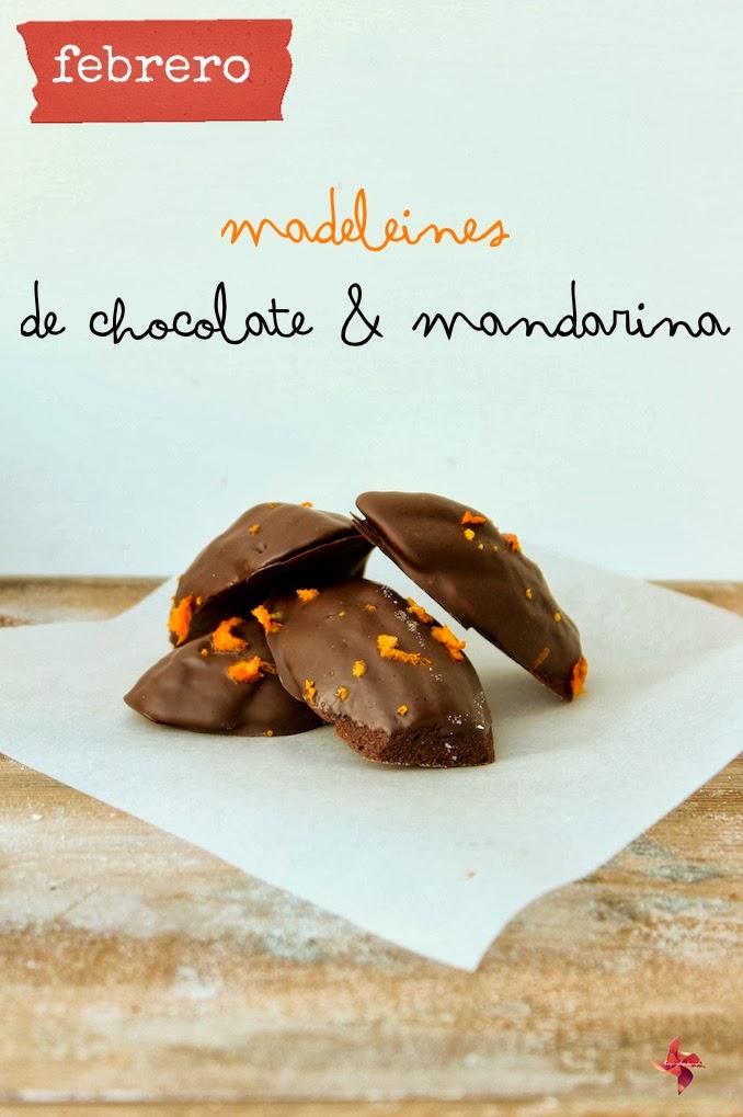 Chocolate & Clementine Madeleines