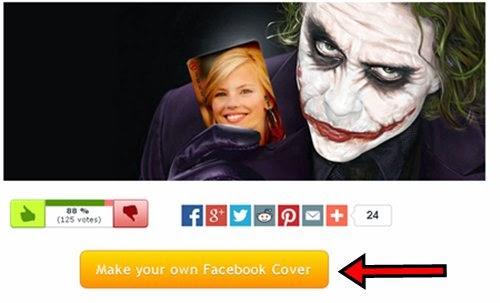 Comece a criar sua capa do facebook