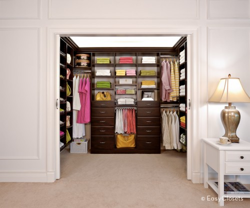 Itu0027s A Closet For A Person Who Has Only Three Dresses (identical And Pink)  And Two (identical) Bathrobes. This Closet Beautifully Holds 8 Shirts, ...