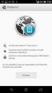 my Xperia Security Service on Phone