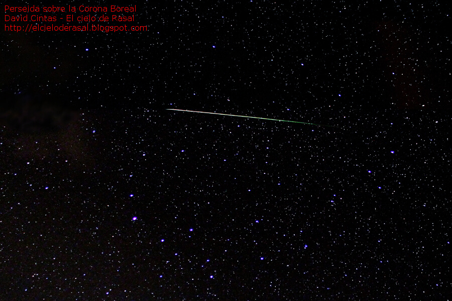 Perseidas estrellas fugaces corona boreal - El cielo de Rasal