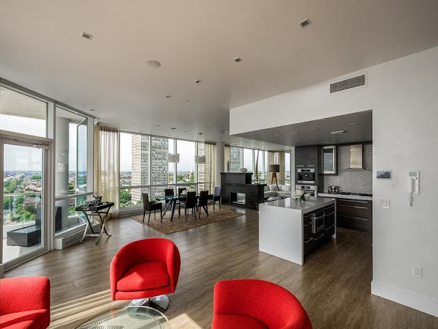 Photo of Philadelphia penthouse interiors as seen from entrance area