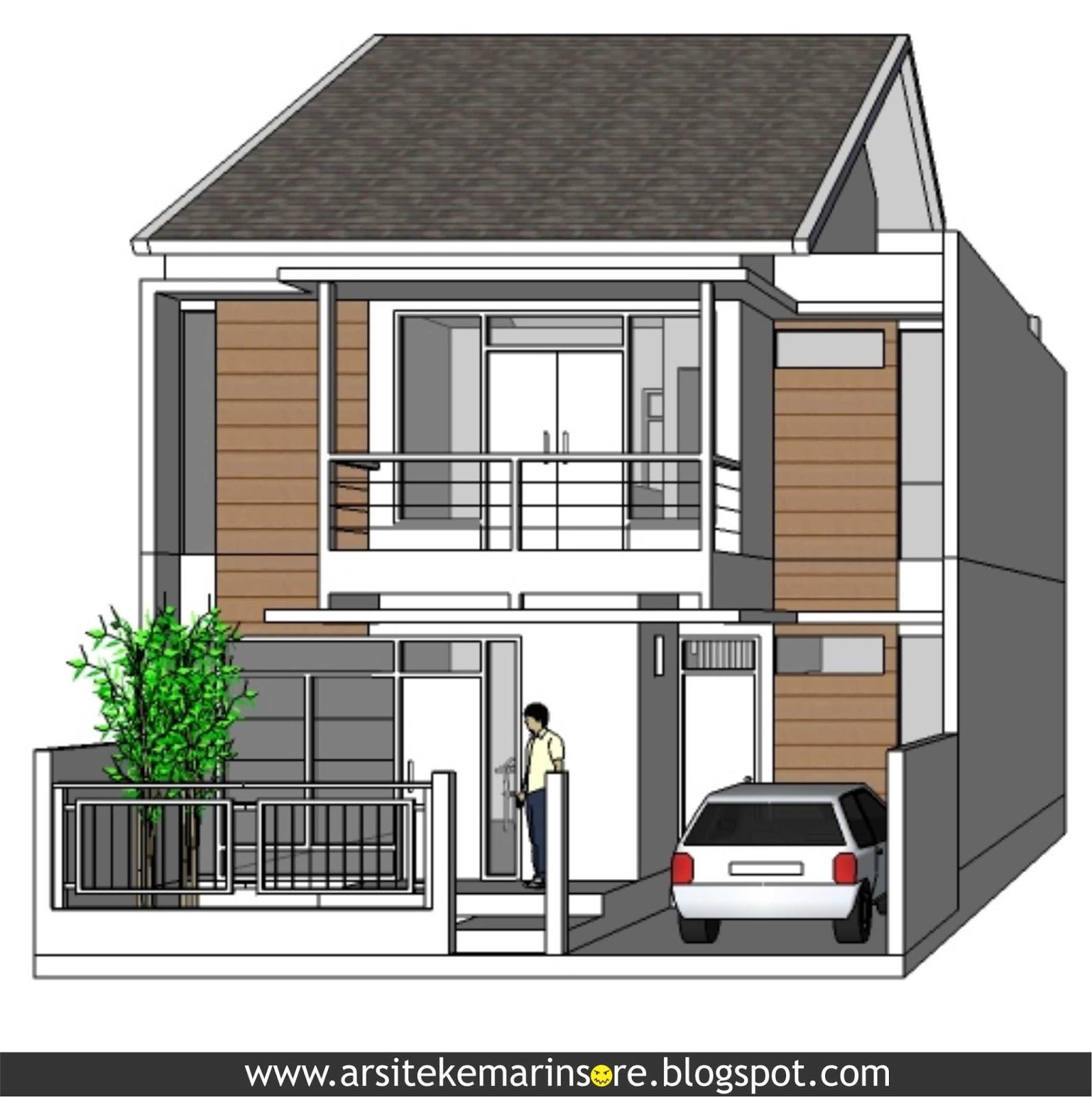 Rumah Minimalis Lebar 5 Meter Rumah Lebar 7,5 Meter