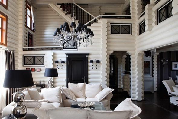 decora y disena: Diseño de Casa en Blanco y Negro por Yulian ...