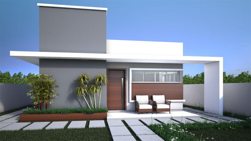 Casa com afeto fachadas modernas para casas pequenas for Casas pequenas modernas