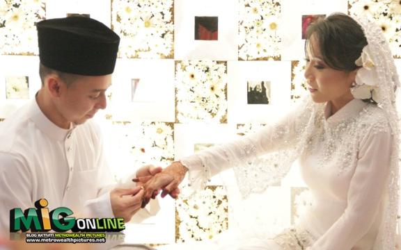 gambar video majlis pernikahan michelle melodi deqwan remaja tv3