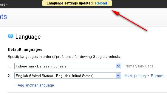 Google+ Language settings updated