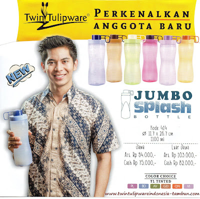 Jumbo Splash Bottle - Produk Baru Tulipware 2016