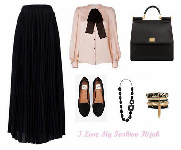 Hijab jupe longue