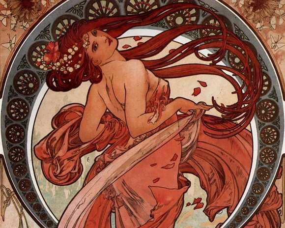 Alphonso Mucha Art Painting Wallpapers 12