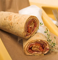 wraps made with whole wheat tortillas