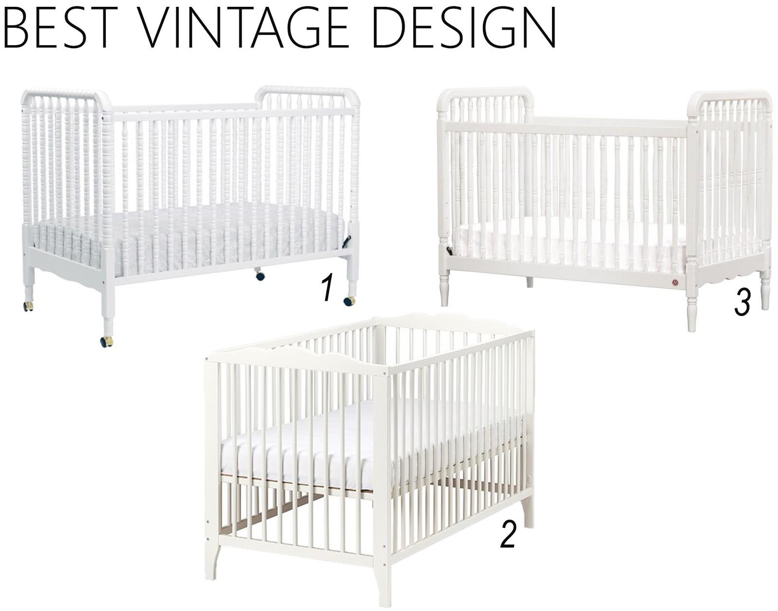 Vintage white crib for sale - Vintage Style Cribs