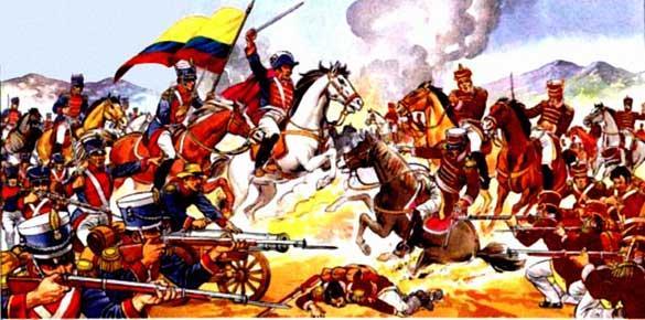 Dibujo de la Batalla de Tarqui