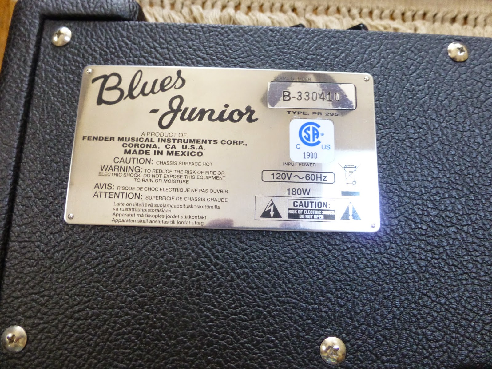 Fender Blues Junior 3 Manual Best 2018 Wiring Diagram Nos Lacquered Tweed 15w 1x12 Bo You