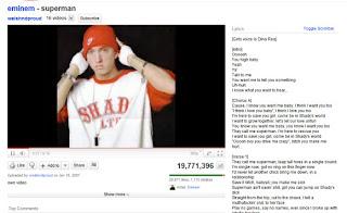 Ver letras de vídeos de Youtube con Youtube Music Video Lirycs