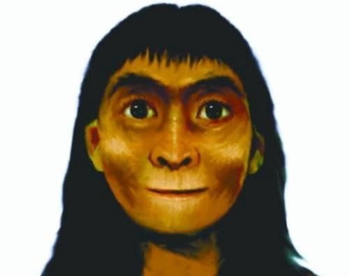 wajah wanita kuno