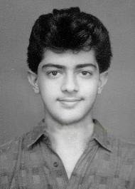 Ajith Kumar in young boy