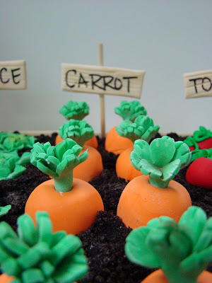 Sweet Cakes by Rebecca - garden cake with fondant carrots