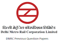 DMRC Previous Question Papers PDF