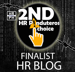 Finalist for the 2nd HR Pinduteros Choice for Human Rights Blog category.