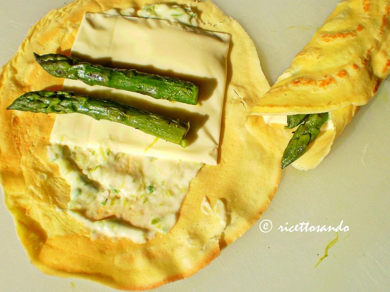 Crespelle vegetariane agli asparagi  ricetta primi piatti