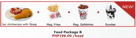 Jollibee party package B
