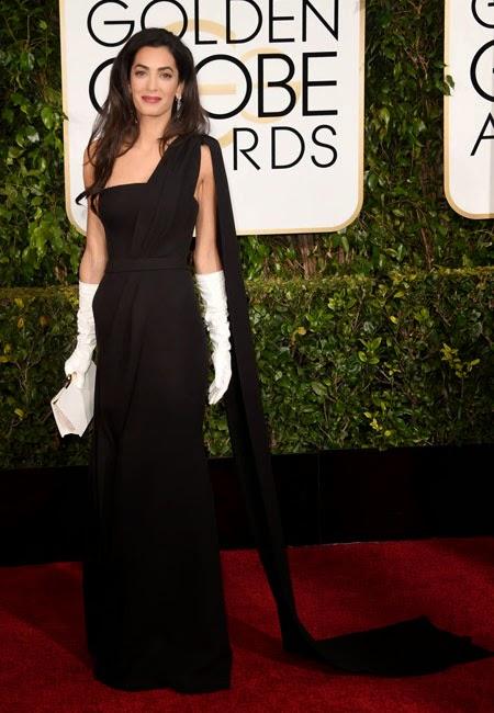 Амал Клуни в черна рокля Dior на наградите Златен глобус 2015