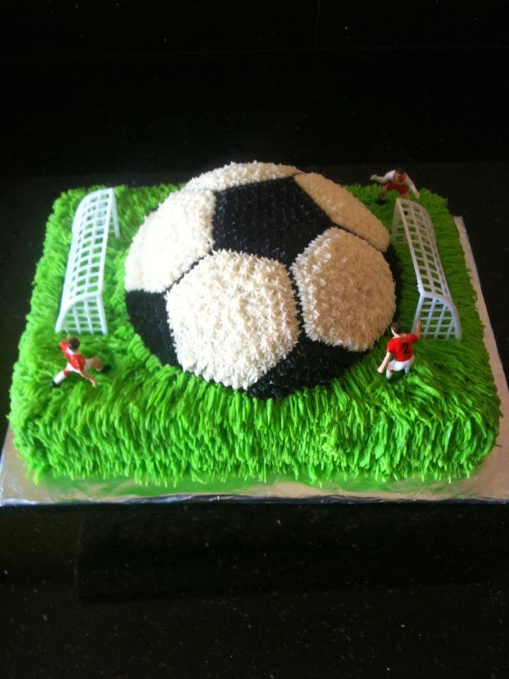 Piece Of Cake Football Birthday Cake