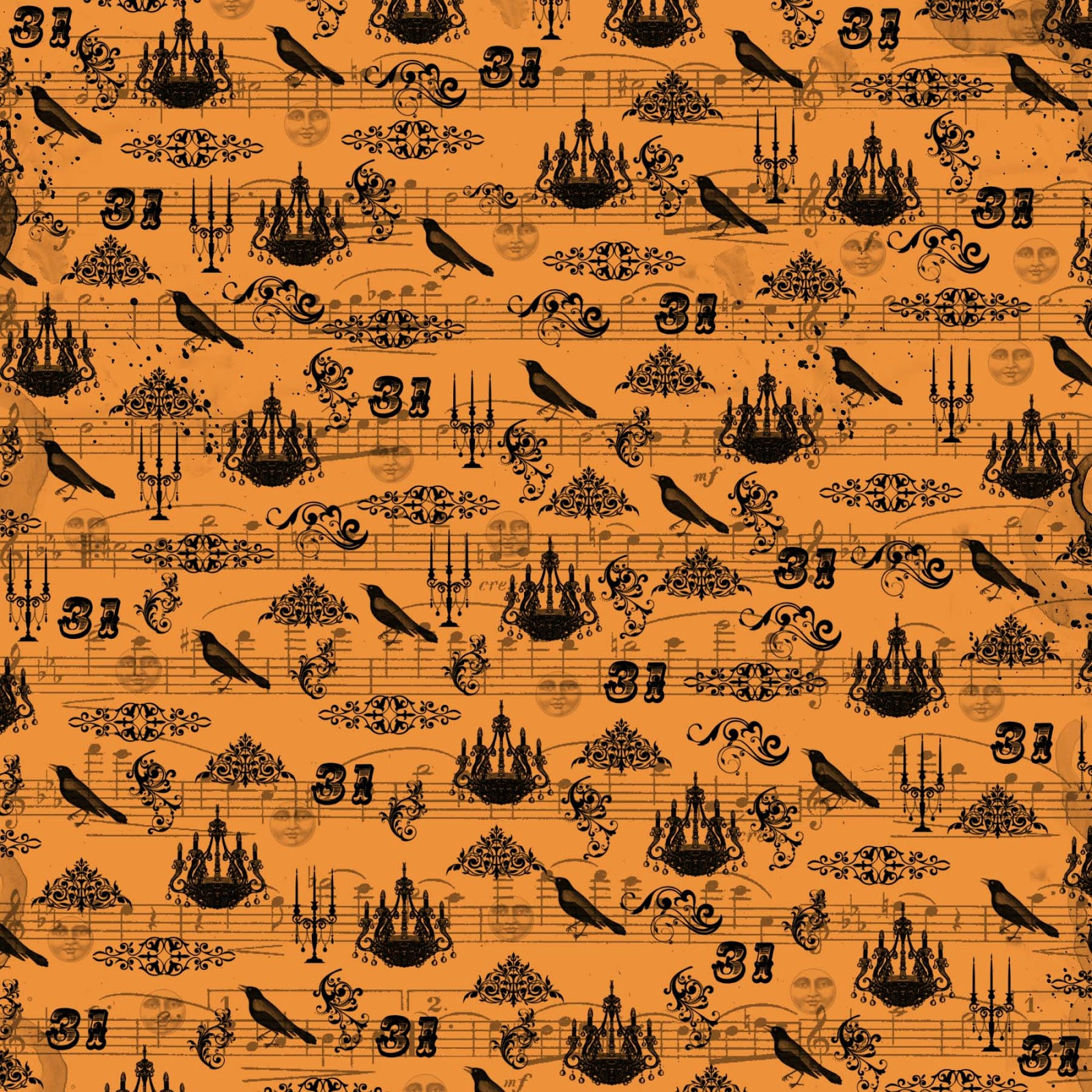 off fall digital papers halloween papers fall patterns halloween papers