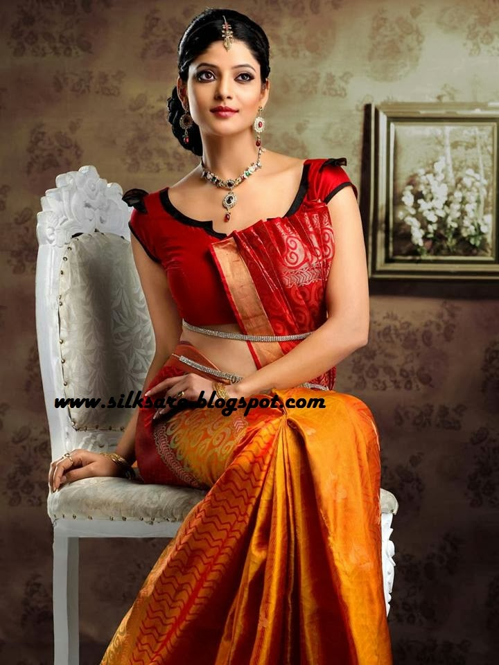 silk saree wedding blouse style