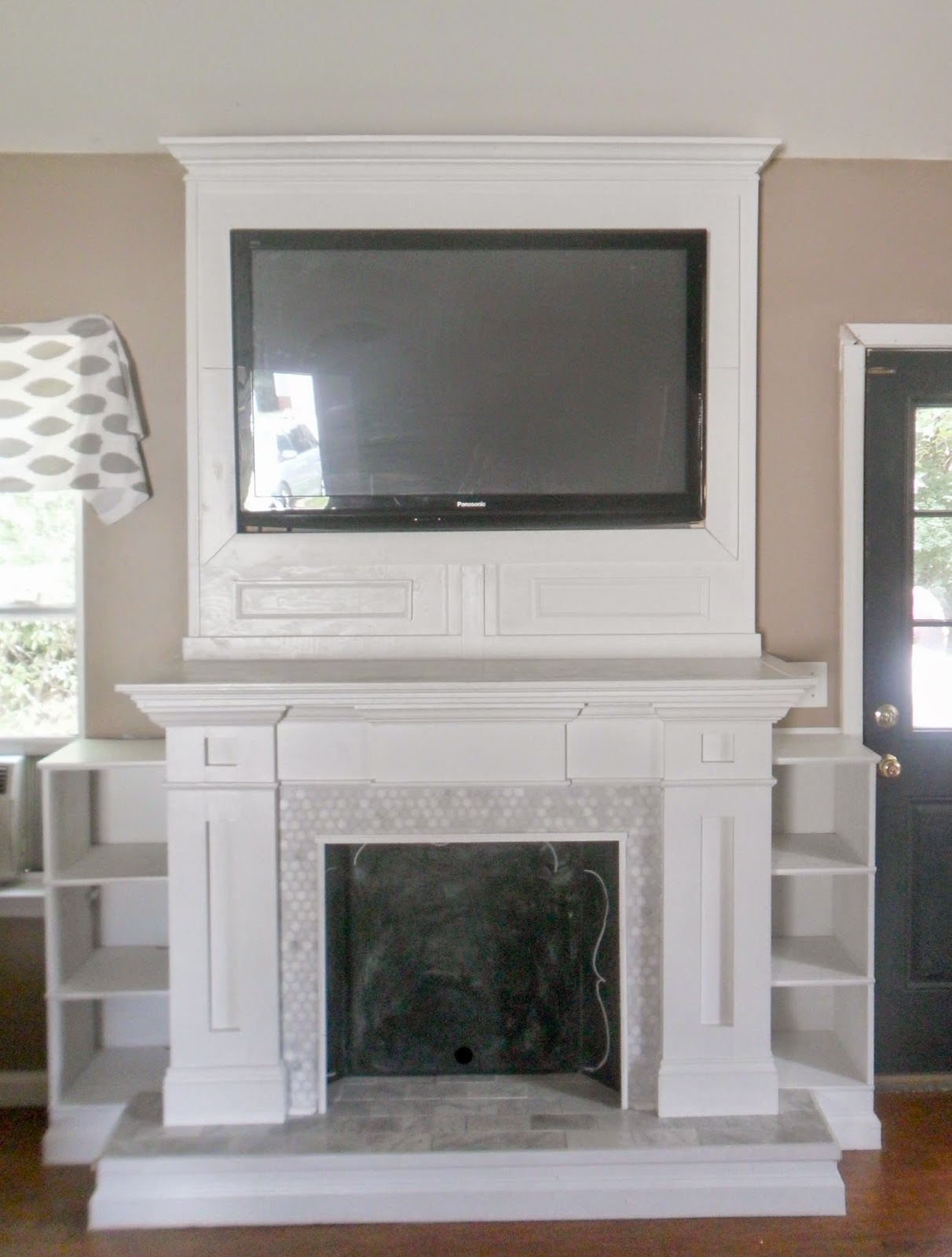 Home Heart and Hands Fireplace makeover featured at One More Time Events.com