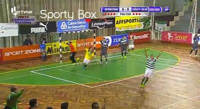 Sporting ganha jogo no último segundo frente ao Leões de Porto Salvo