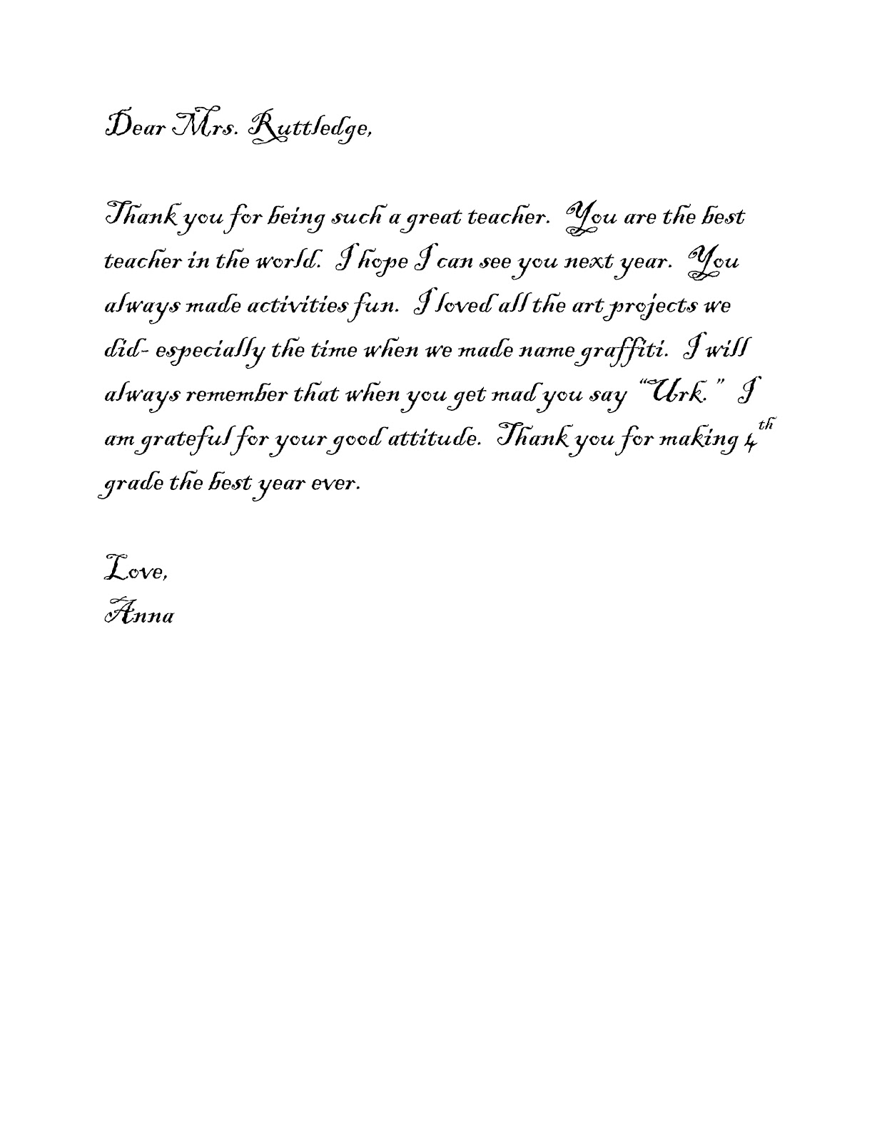 Simple Thank You Letter Images  Letter Format Formal Sample