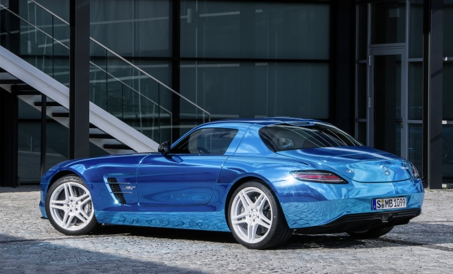 Mercedes AMG SLS Electric Drive, rear side view
