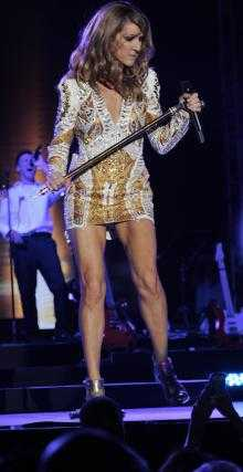 celine dion suffers wardrobe malfunction in jamaica 2012, Celine dion ...